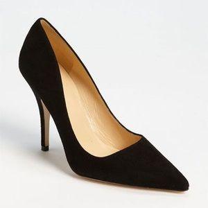 Kate spade ♠️ licorice black suede pumps